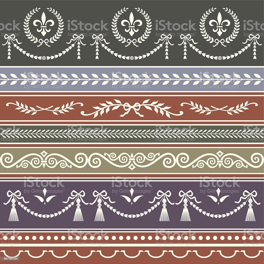 Vector repeating classic borders royalty-free stock vector art