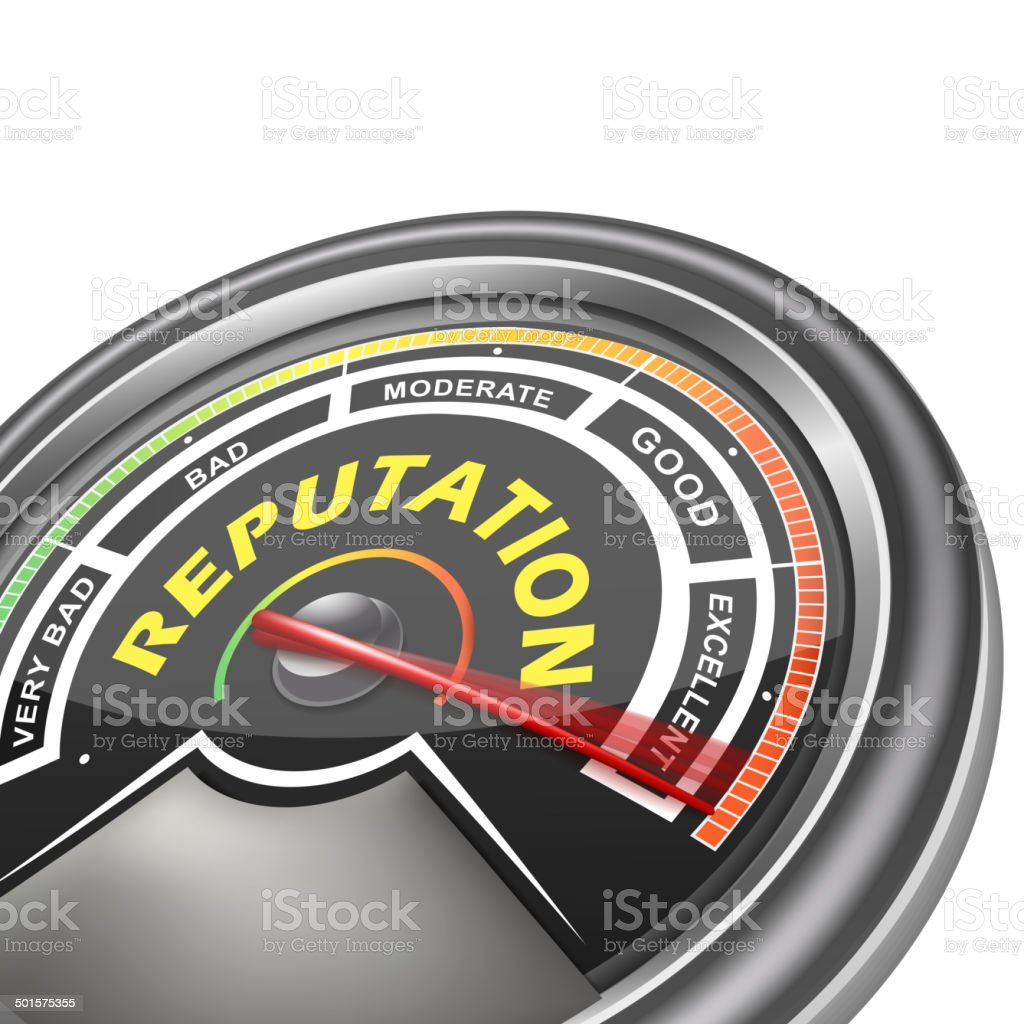 vector reputation conceptual meter indicator vector art illustration