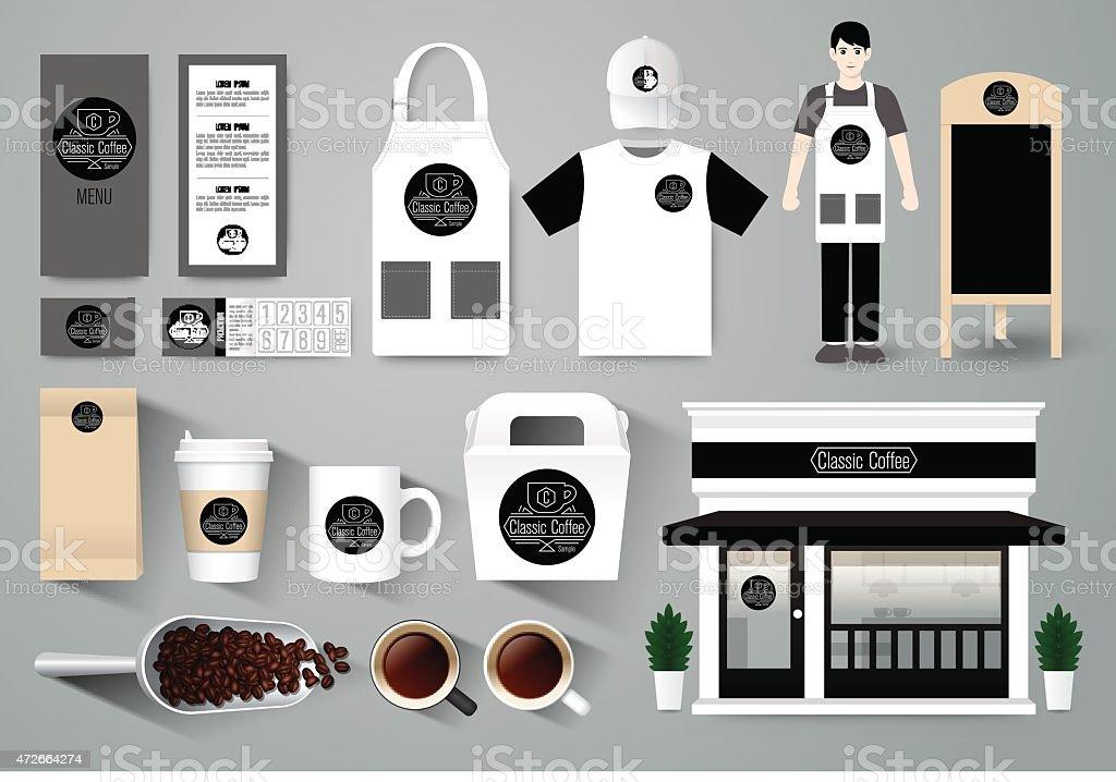Restaurante Café Vector Diseño Conjunto Plantillas De Identidad ...