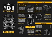 vector restaurant cafe menu with hand drawn graphic template flat design