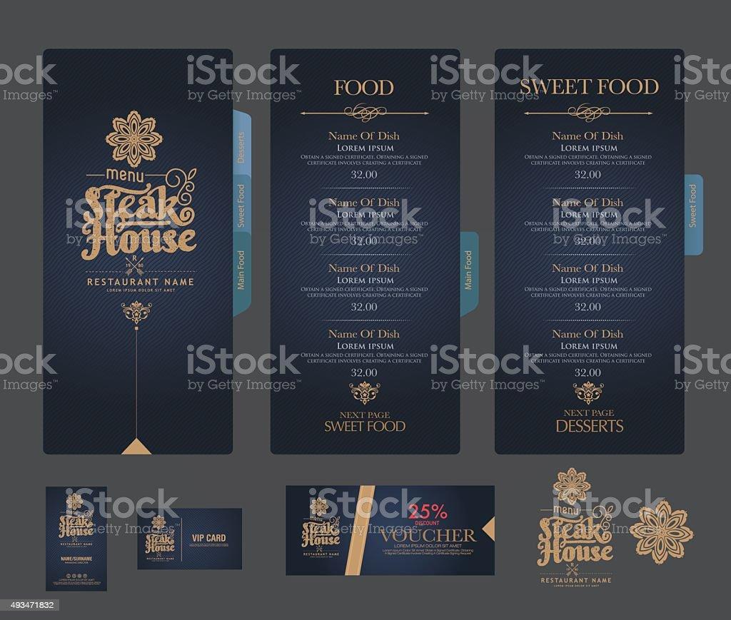 vector restaurant menu template. vector art illustration
