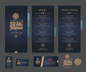 vector restaurant menu template.