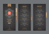 vector restaurant menu template..