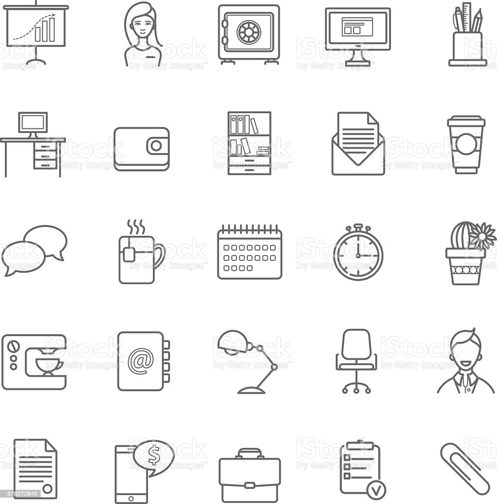 Vector Resume Icons Set Lizenzfreies Stock Vektor Art Und Mehr Bilder Von