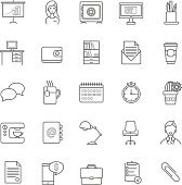 vector resume icons set for your design