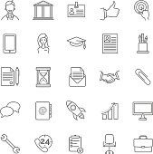 vector resume icons set