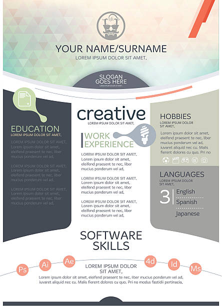 vector resume template. - resume templates stock illustrations