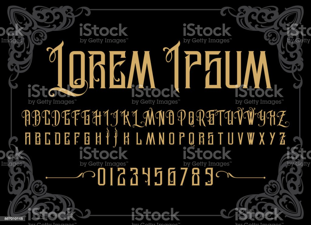 Vector retro alphabet