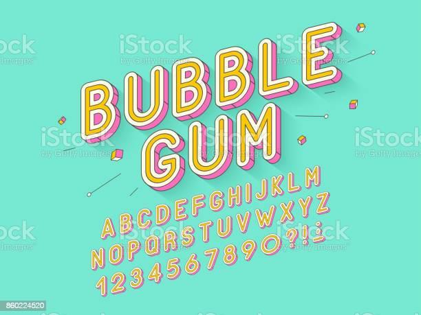 Vector retro bubble gum bold font design alphabet typeface typography vector id860224520?b=1&k=6&m=860224520&s=612x612&h=idaklxnmj2qpe0gfmslotxpq0zqm4lqinnwrf3zt9cs=