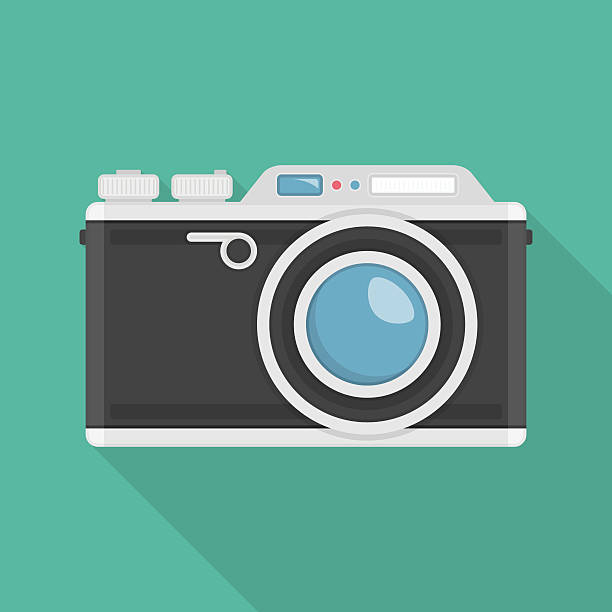 vector retro camera. - カメラ点のイラスト素材/クリップアート素材/マンガ素材/アイコン素材