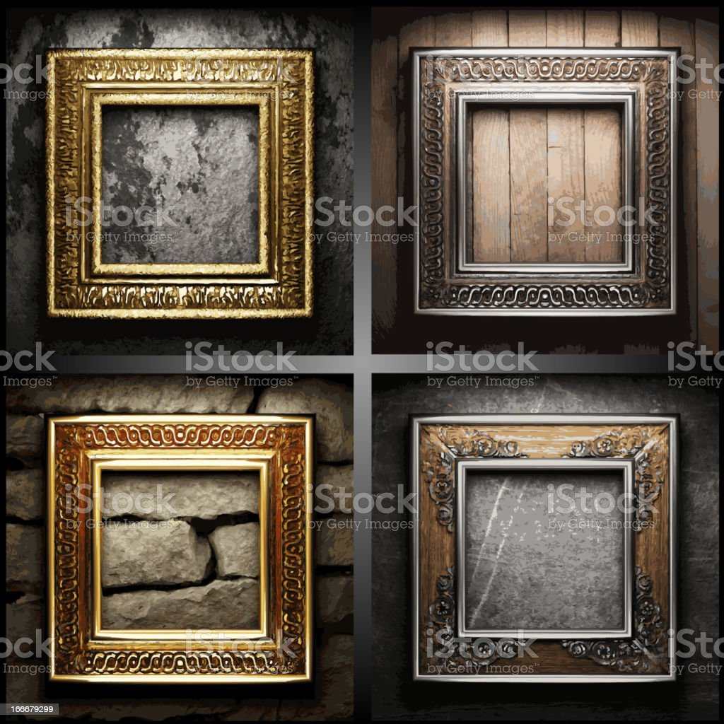 vector retro frame set royalty-free stock vector art