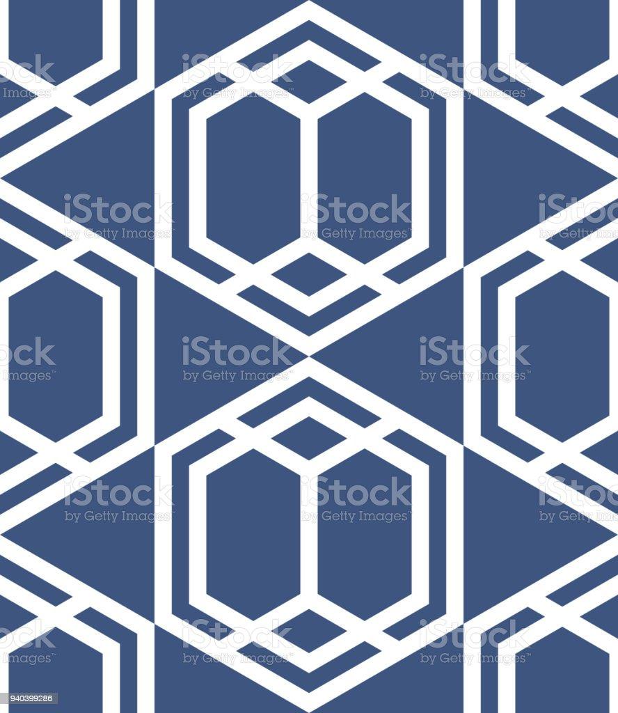 Vector retro geometric pattern seamless background with rhombus abstract cube pattern background - Alfombras contemporaneas ...