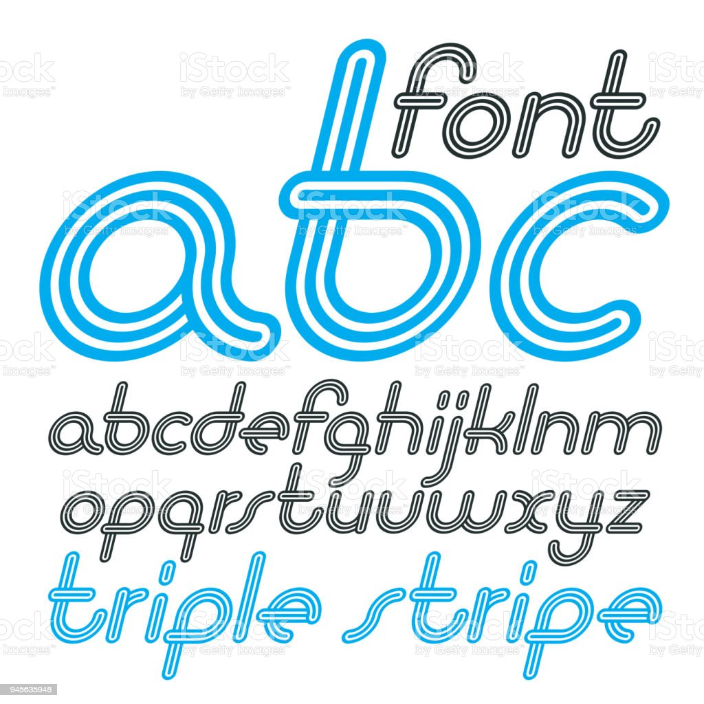 vector retro lowercase english alphabet letters abc collection cool