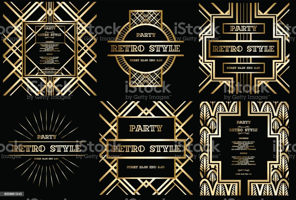 vector retro pattern for vintage party vector art illustration