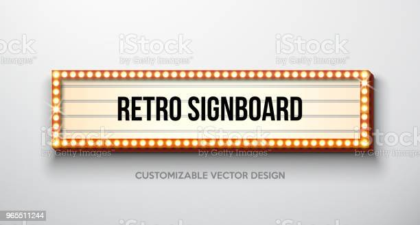Vector retro signboard or lightbox illustration with customizable on vector id965511244?b=1&k=6&m=965511244&s=612x612&h=fq83anmhbsmgcbrviyz1loz35qzeasw sv2rp1ebitg=