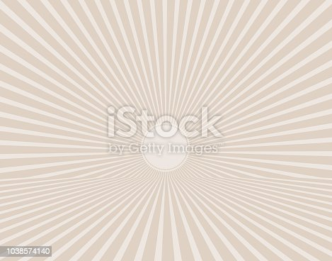 Colorful Vector Sunburst with perspective line art