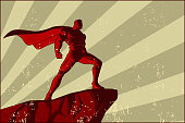 Vector Retro Superhero Poster