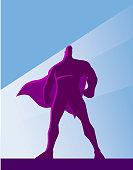 Vector Retro Superhero Silhouette