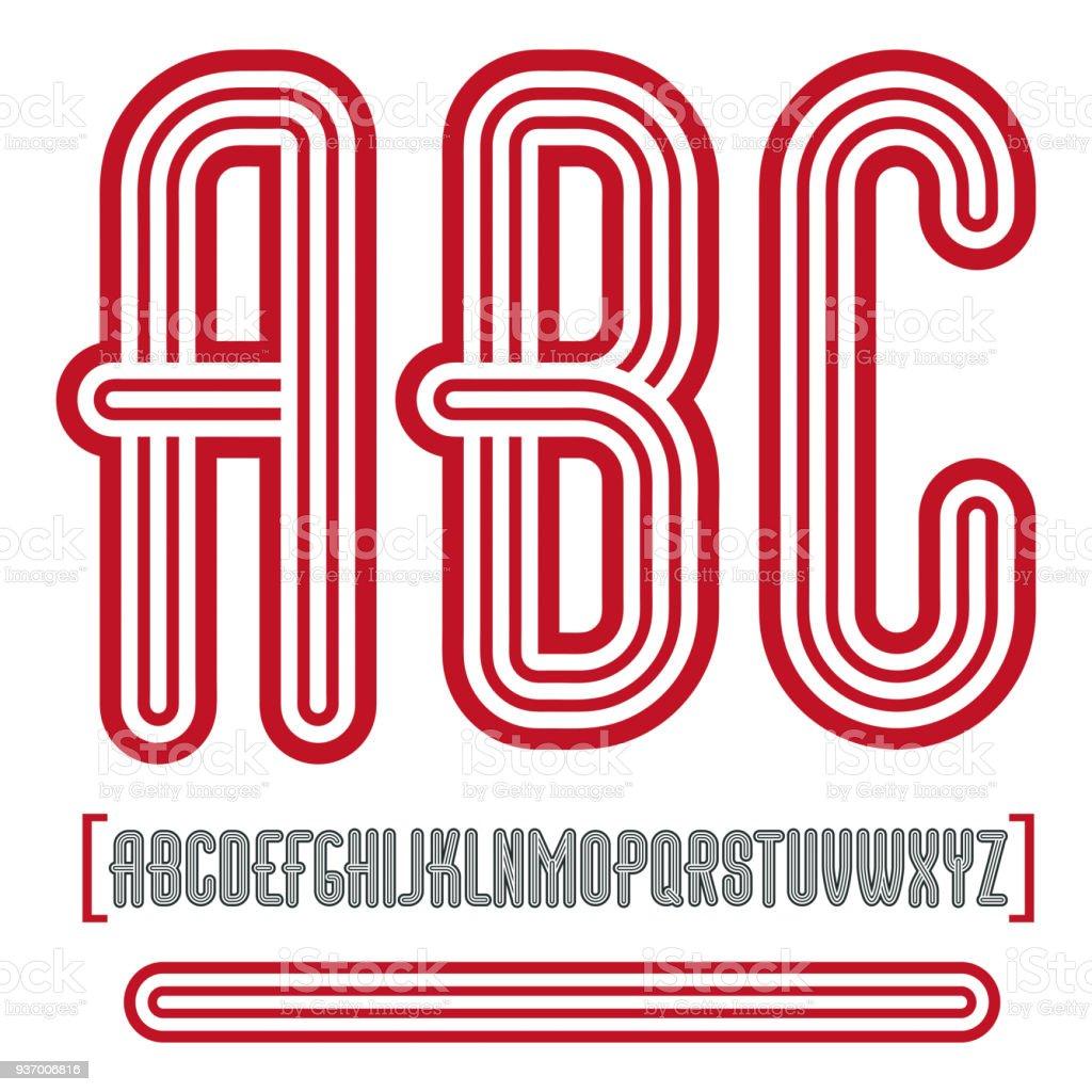 Abc Creation intérieur vector retro vintage capital english alphabet letters abc collection