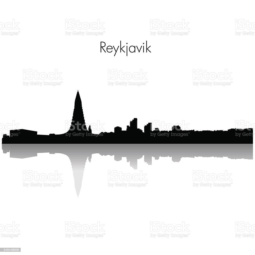 Vector Reykjavik skyline silhouette. vector art illustration