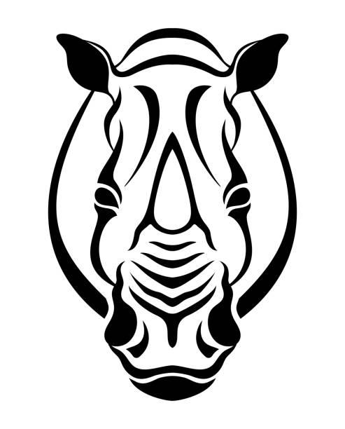 Best Rhino Head Drawing Illustrations, Royalty-Free Vector