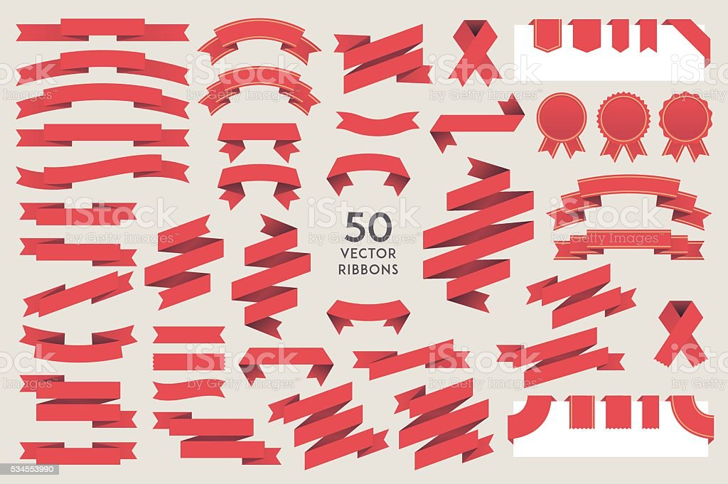 Vector Ribbons vector art illustration