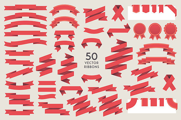 vector ribbons - vectors stock illustrations, clip art, cartoons, & icons