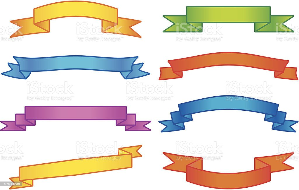 Vector ribbons royalty-free vector ribbons stock vector art & more images of blank