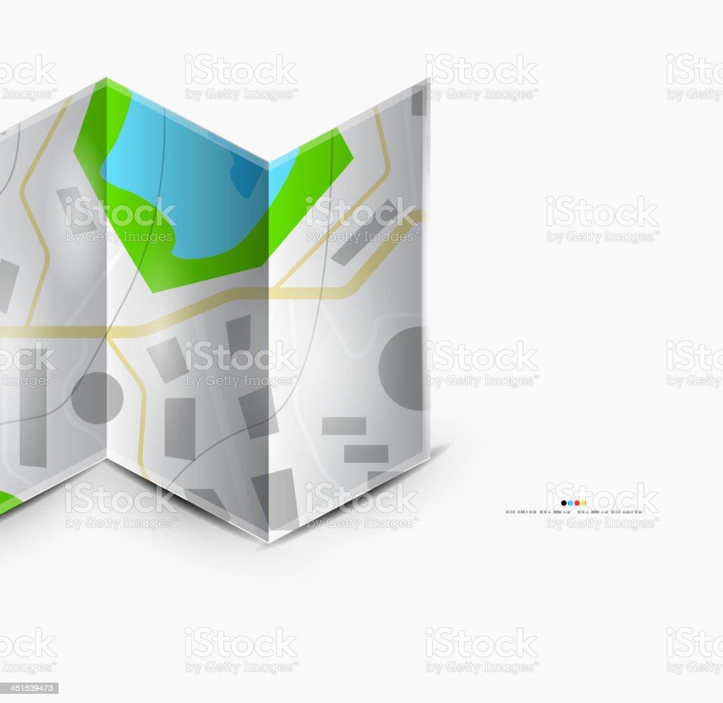 Vector road map background vector art illustration