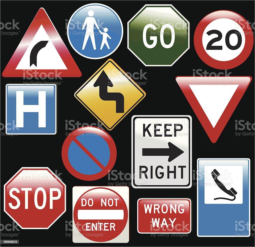 vector road signs royalty-free stock vector art