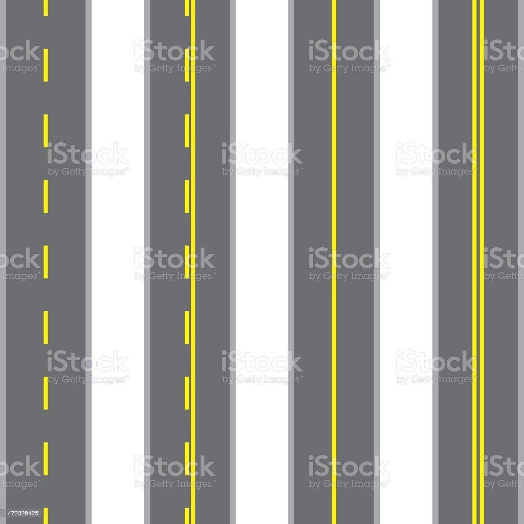 Vector road vector art illustration