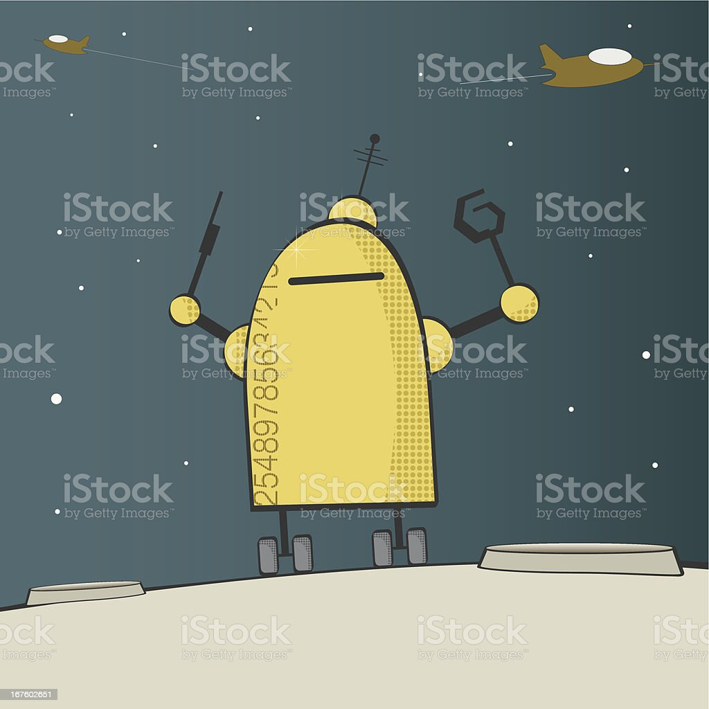 vector robot illustration royalty-free stock vector art
