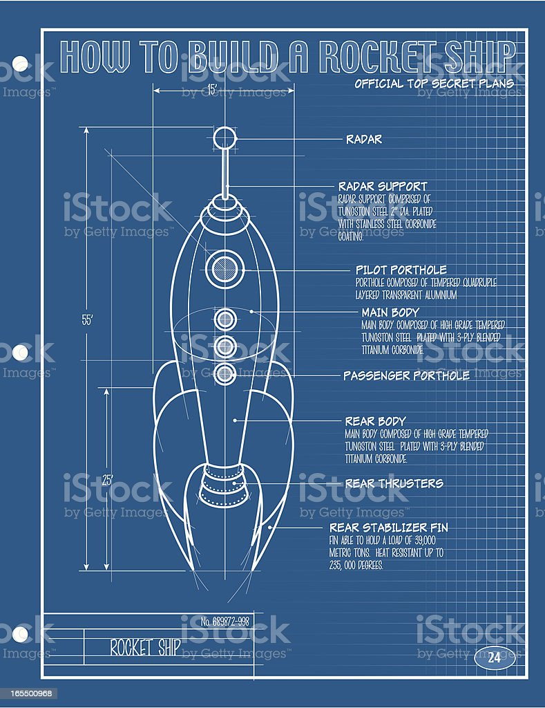 Vector rocket ship blueprint stock vector art more images of vector rocket ship blueprint royalty free vector rocket ship blueprint stock vector art amp malvernweather Gallery