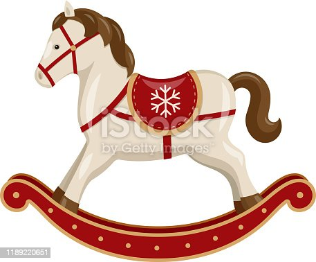Vector rocking horse.