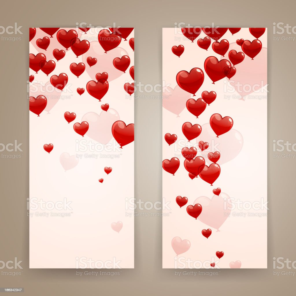 Vector Romantic Banners royalty-free stock vector art