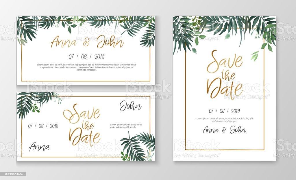Romantic Wedding Invitation Wording: Vector Romantic Wedding Invitation Template With