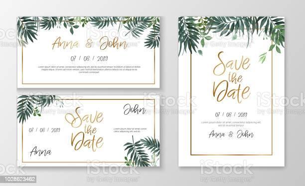 Vector romantic wedding invitation template with watercolor style vector id1028623462?b=1&k=6&m=1028623462&s=612x612&h=ukkuennlrqvguxfco99toa4 t91aexpyp5pf9b0bbsq=