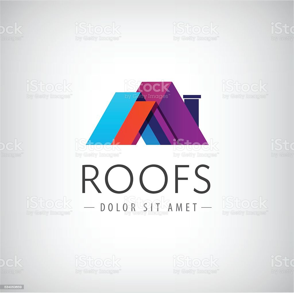 vector roofs, house icon, logo isolated vector art illustration