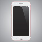 Vector Rose Smartphone. EPS10 with layers (removeable) and alternate formats (hi-res jpg, pdf).