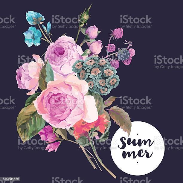 Vector roses vintage floral greeting card vector id540204576?b=1&k=6&m=540204576&s=612x612&h=lgjqbedijw1chg1gcbo3vy2lla4cu3pnunwa2mdrwfg=