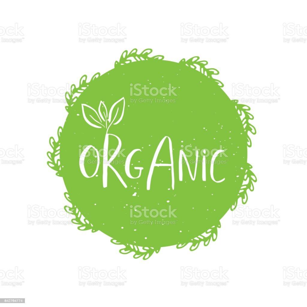 0b999259 Vector runda eco, bio grön logo eller logga royaltyfri vector runda eco bio  grön logo