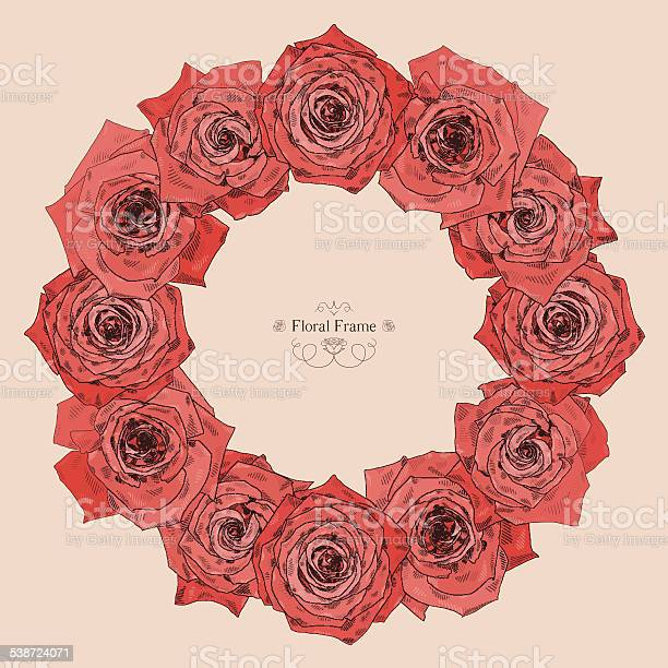 Vector round frame with beautiful roses vector id538724071?b=1&k=6&m=538724071&s=612x612&h=g48xdwiuzhkqwad2dt97lzcr0 obyahatr5vpxq1 rs=