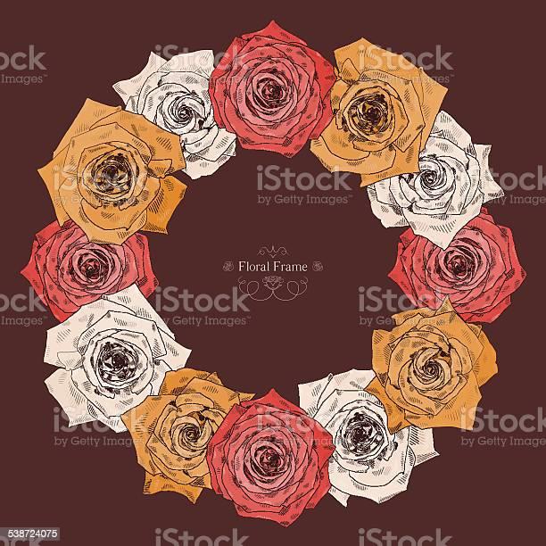 Vector round frame with beautiful roses vector id538724075?b=1&k=6&m=538724075&s=612x612&h=hnr2c8inr8nhkt xtznbhrlmoegtqfsilrsmze8onpm=