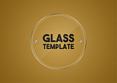 Vector Round Glass Template