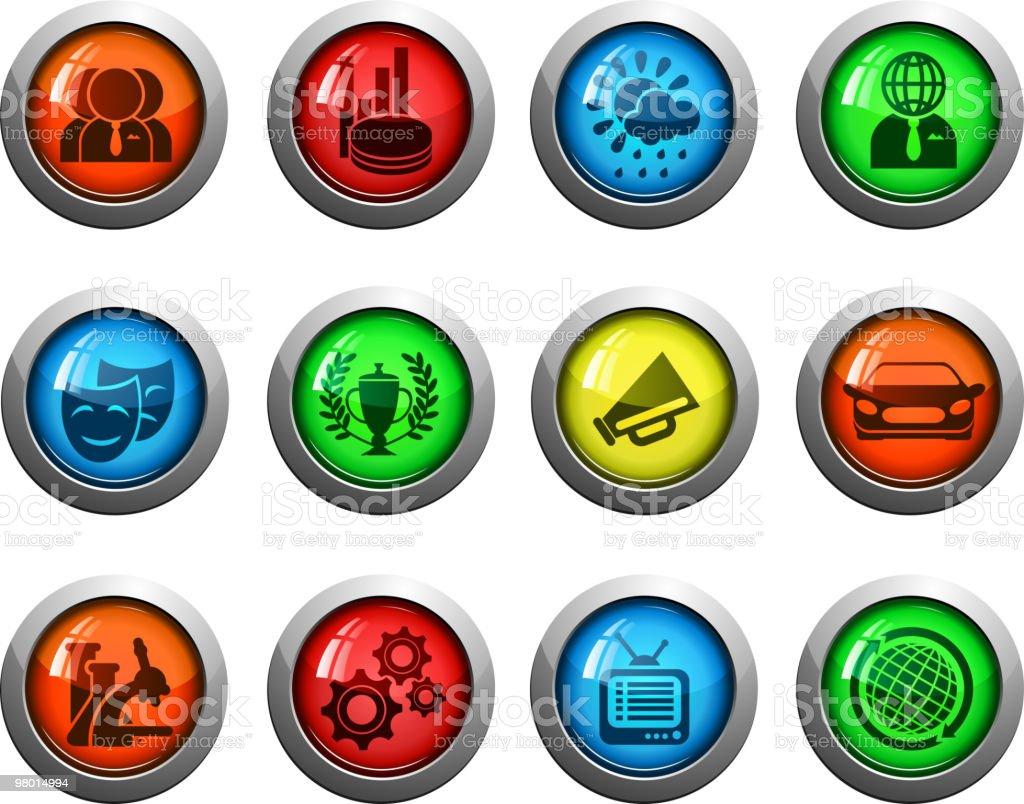 Vettore turno icona set di lucido notizie vettore turno icona set di lucido notizie - immagini vettoriali stock e altre immagini di ambiente royalty-free