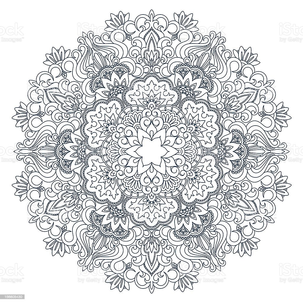 Vector round ornament. royalty-free vector round ornament stock vector art & more images of abstract