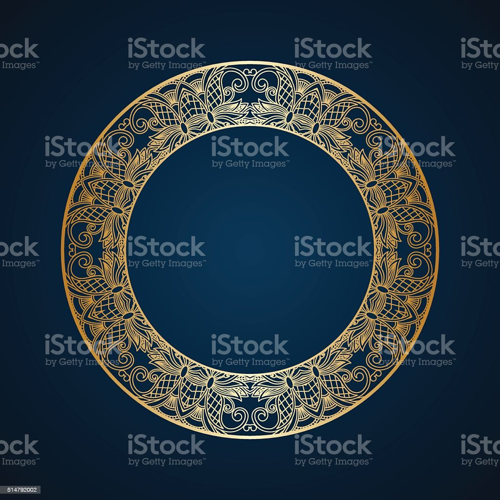 Vector round ornament. vector art illustration