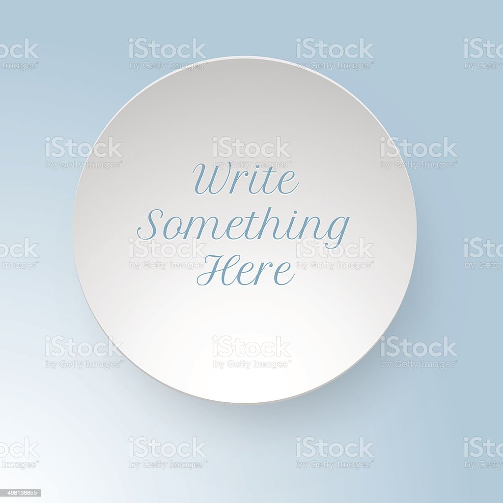 vector round piece of paper note with shadow vector art illustration