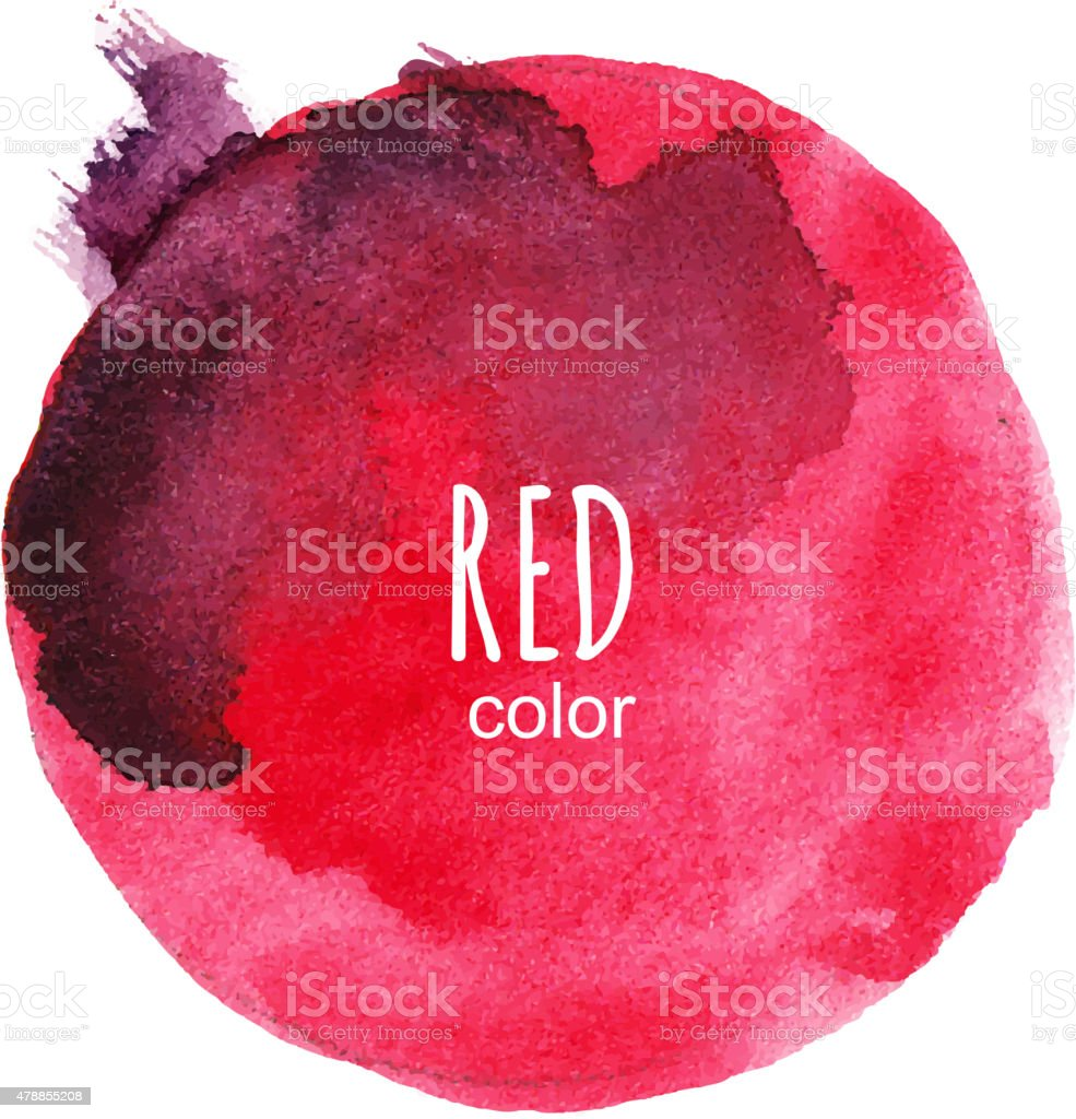 Vector round watercolor stain vector art illustration
