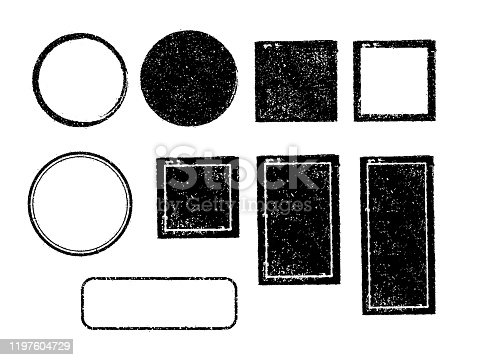 Vector rubber stamp template illustration set (no text/ text space) / color black